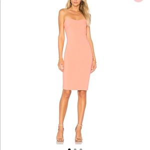 STRAPLESS APRICOT COCKTAIL DRESS FROM REVOLVE, 6
